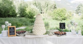 - AMY ROCHELLE PRESS - Wedding Cake Chalk Board Signs. Photo by Images By Bethany