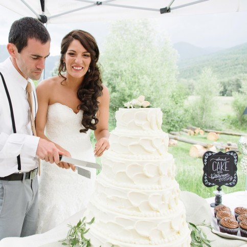 - AMY ROCHELLE PRESS - Wedding Cake Chalk Board Signs for a Colorado mountain, Italian theme wedding. Photo by Images By Bethany