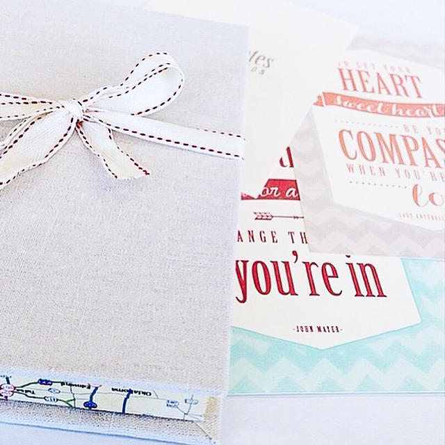 - AMY ROCHELLE PRESS - A series of three music-inspired postcards, designed and printed with letterpress. Packaged in a handmade linen box with map accents.