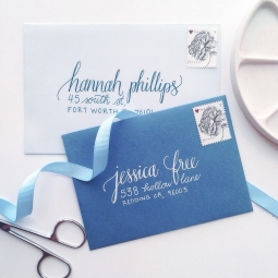 - AMY ROCHELLE PRESS - Calligraphy addressed envelopes