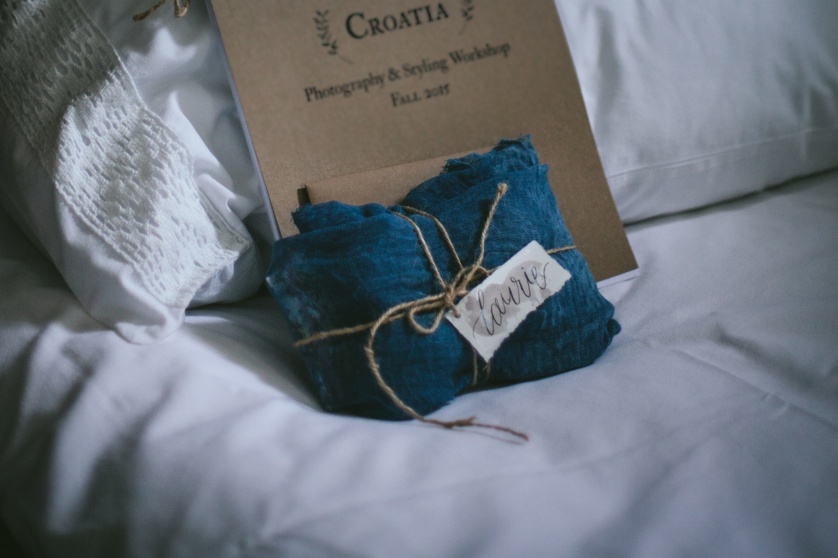 - AMY ROCHELLE PRESS - Hand made gift tags, each name lettered with modern calligraphy. Photo by Eva Kosmas Flores