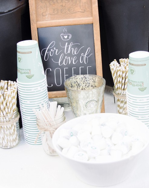 - AMY ROCHELLE PRESS - For the Love of Coffee: Mini chalk board sign for the wedding coffee station. Photo by Images by Bethany