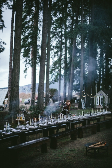 - AMY ROCHELLE PRESS - Fire and Ice Secret Supper. I love the winter-coziness of the smoke captured in this image. Photo by Eva Kosmas Flores